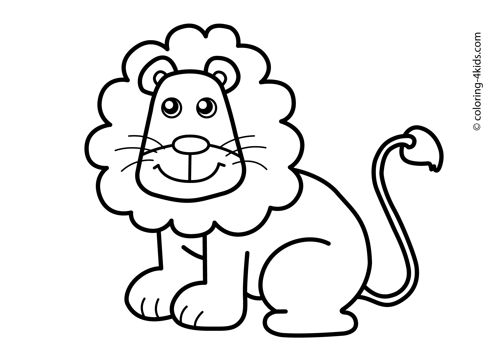 jungle animals coloring pages - jungle animal cartoon drawings 3