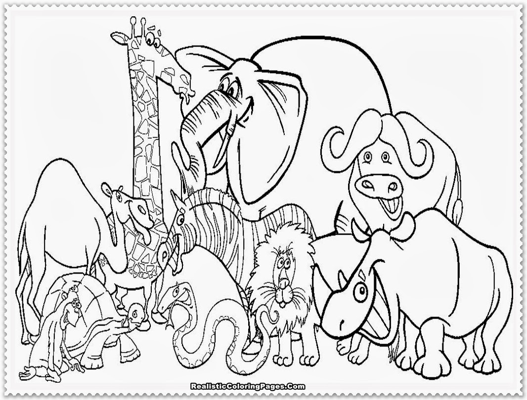jungle book coloring pages - animal colour