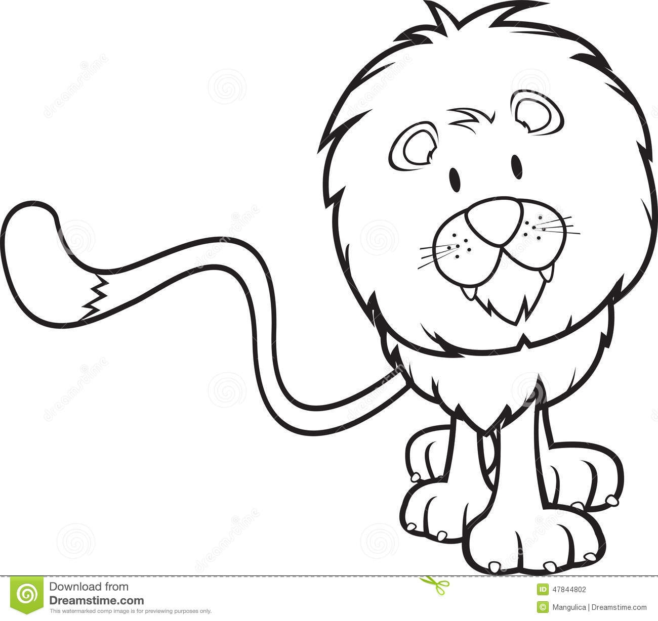 jungle book coloring pages - stock illustration cute lion coloring book vector illustration image