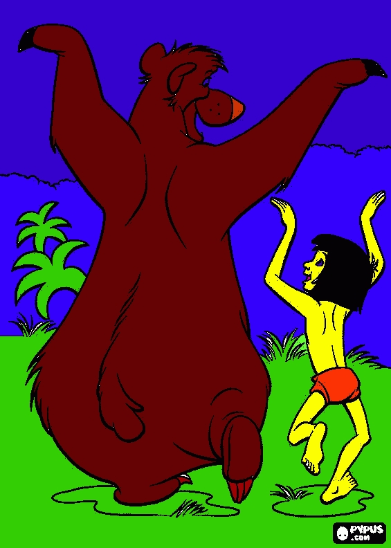 jungle book coloring pages - coloring page the jungle book