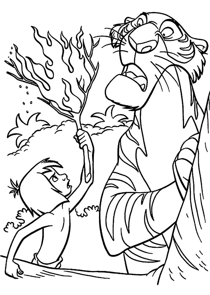 jungle coloring pages - disney jungle book coloring pages