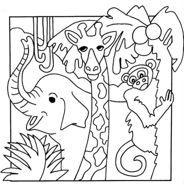 Jungle Coloring Pages - Jungle Animals Coloring Pages Az Coloring Pages