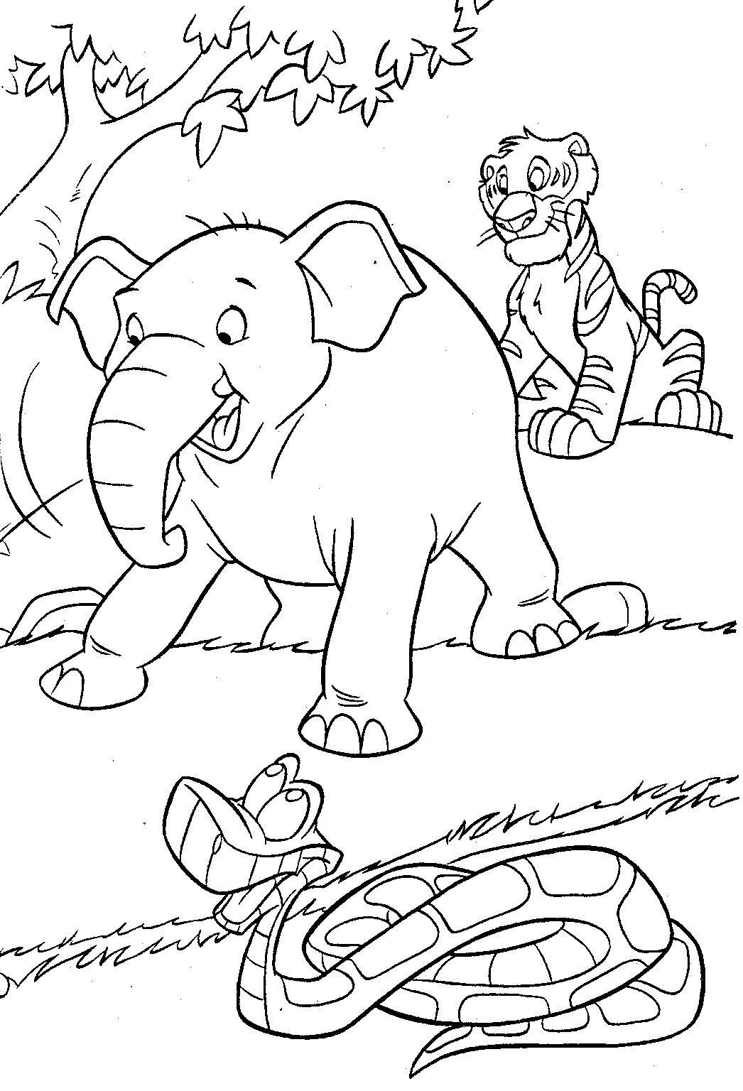 jungle coloring pages - jungle coloring pages