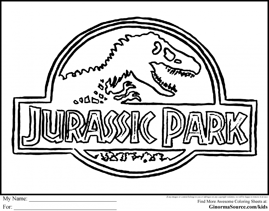 jurassic park coloring pages - jurassic park coloring pages