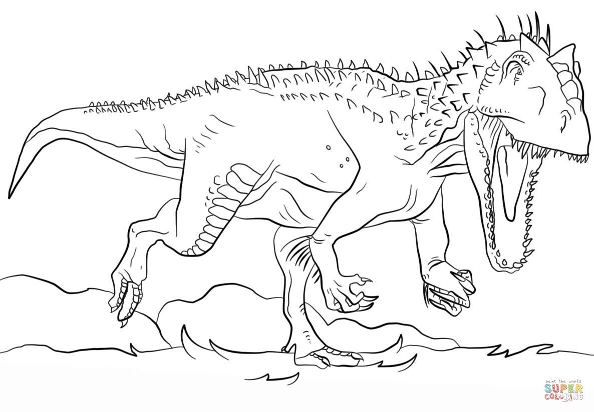 jurassic park coloring pages - jurassic park indominus rex