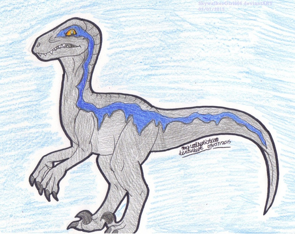 jurassic world coloring pages - blue the raptor