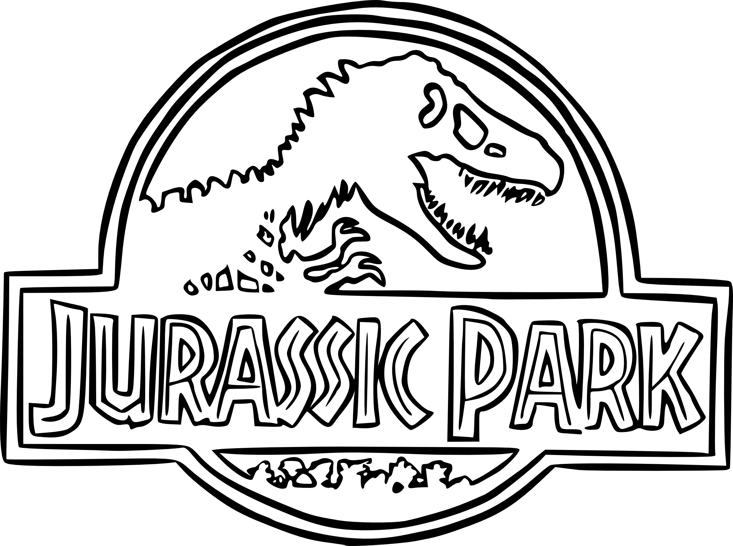 Jurassic World Coloring Pages - Coloriage Jurassic Park à Imprimer