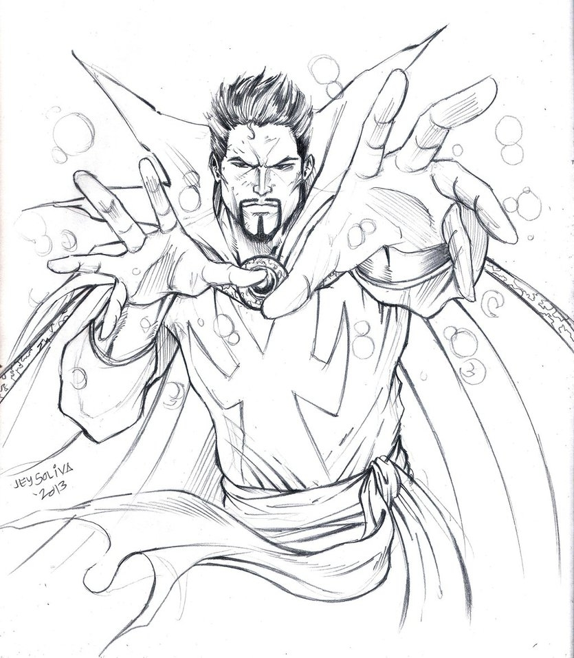 justice league coloring pages - Dr Strange for Coloring