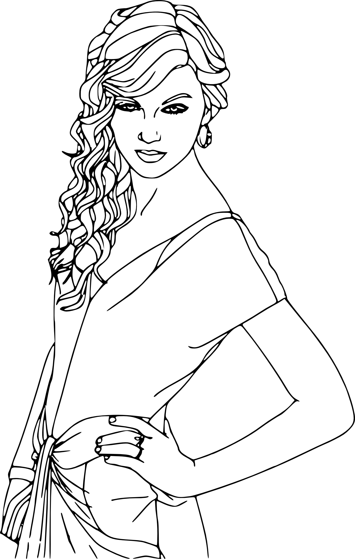 justin bieber coloring pages - coloriage taylor swift