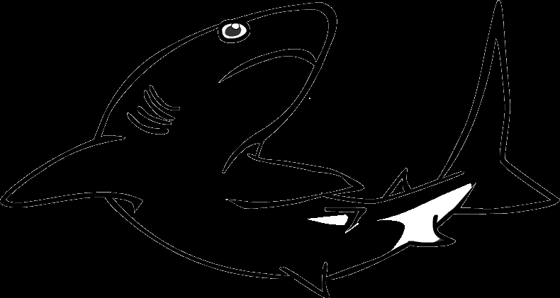 k coloring pages - reef shark coloring 02
