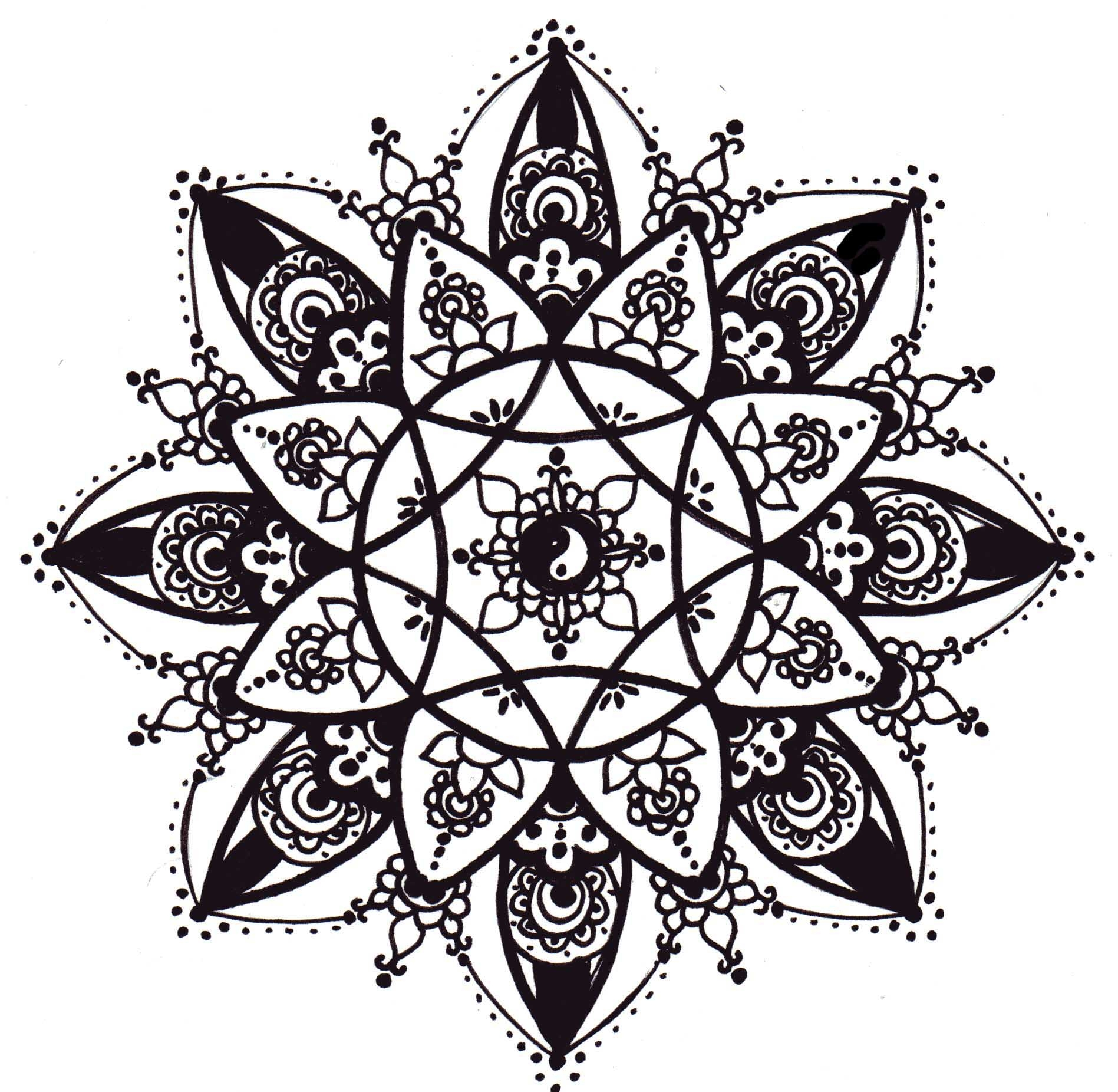 kaleidoscope coloring pages - renatascarparo