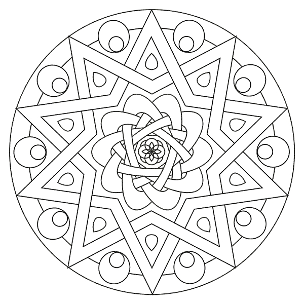 kaleidoscope coloring pages -