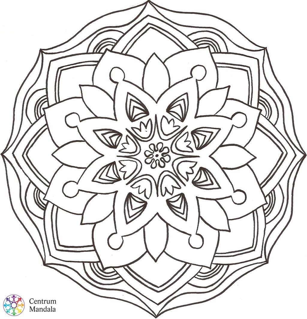 kaleidoscope coloring pages - able mandalas