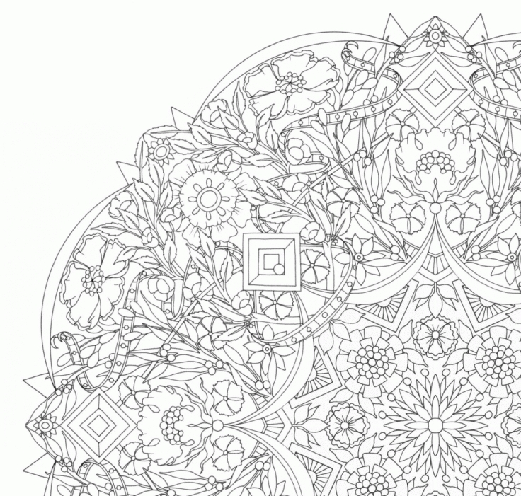 kaleidoscope coloring pages - panda coloring pages for adults