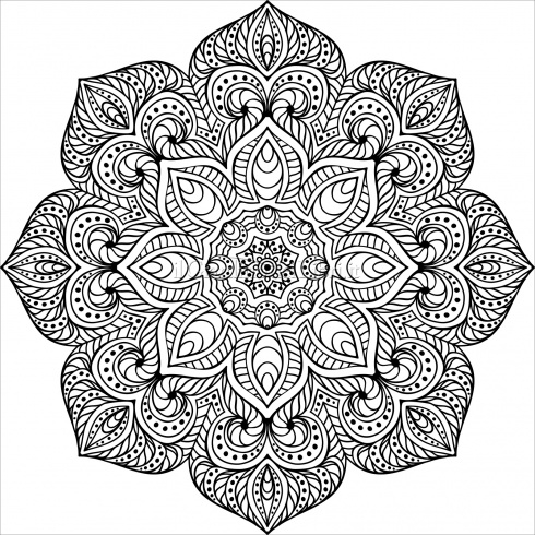 kaleidoscope coloring pages - potere mandala