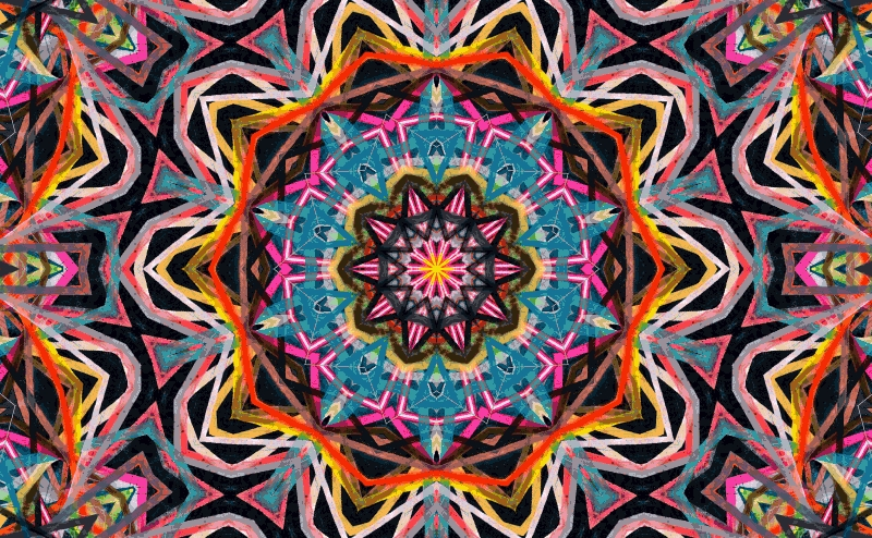 kaleidoscope coloring pages - 2312 follow back psychedelic