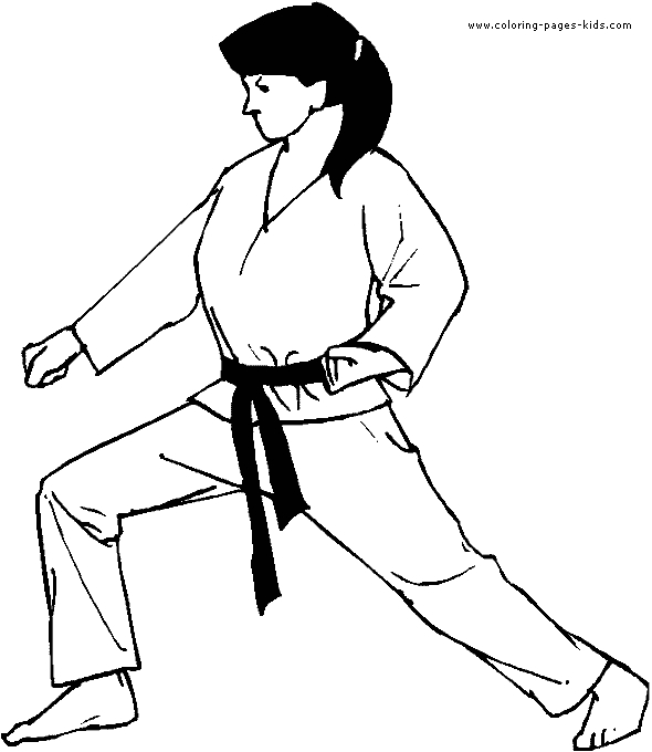 Karate Coloring Pages - Boxing Judo Karate Color Page Coloring Pages for Kids