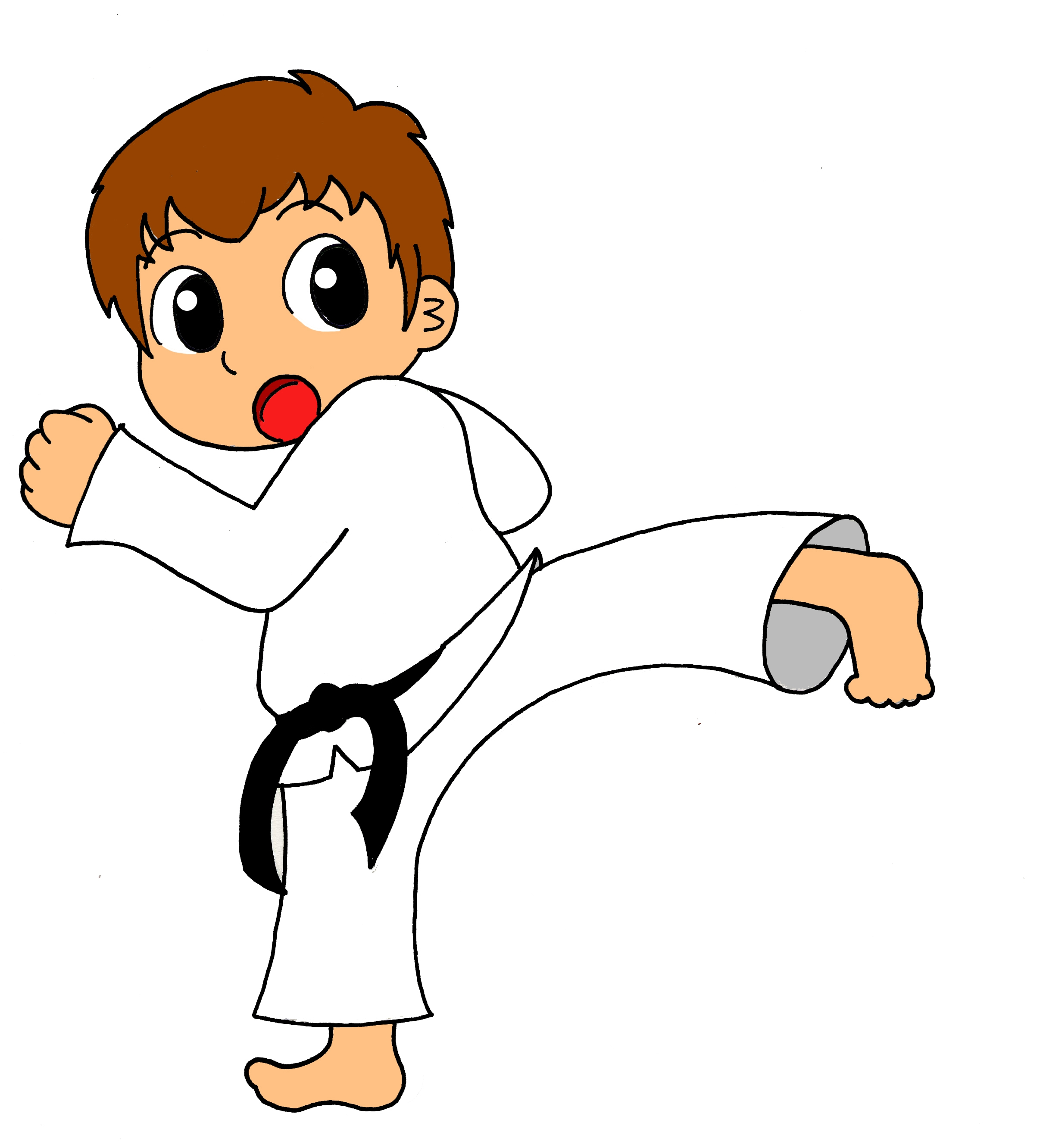 karate coloring pages - martial arts cliparts