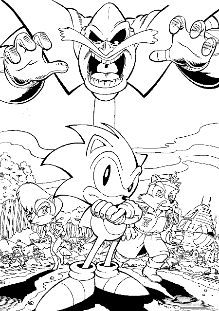 karate coloring pages - sonic adventure coloring pages