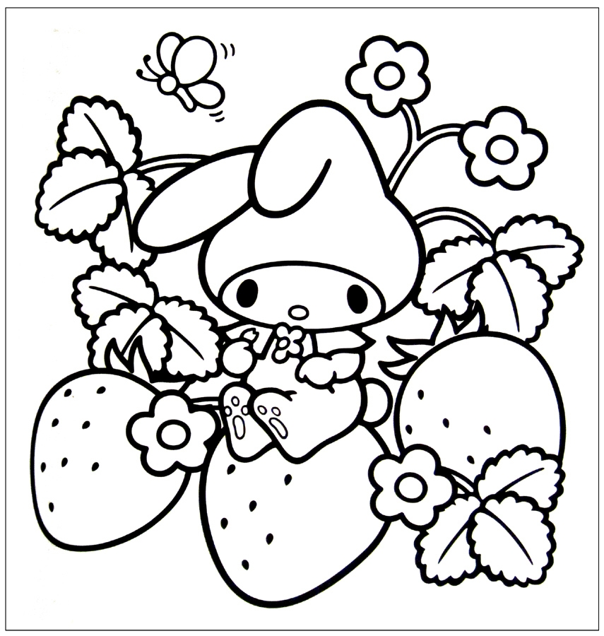 kawaii coloring pages - r=kawaii food