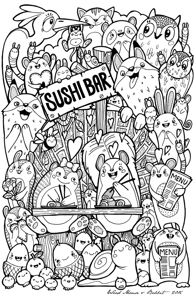 Excellent Kawaii Sushi Coloring Pages Ideas - Examples Professional ...