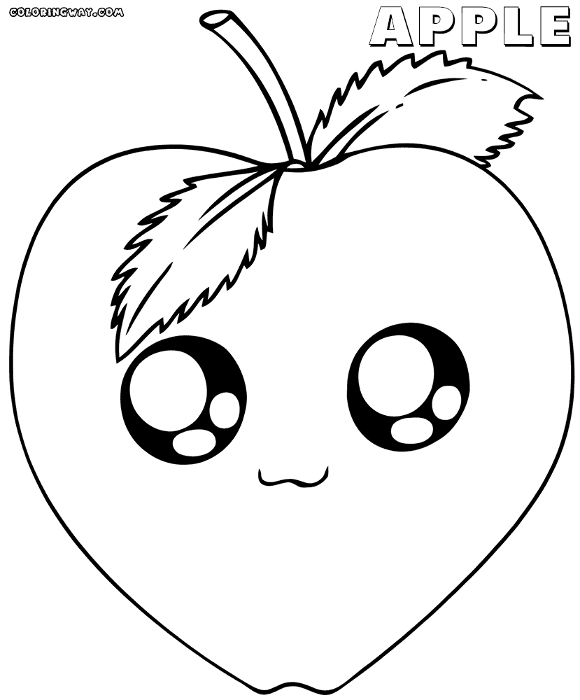 kawaii food coloring pages - kawaii food coloring pages