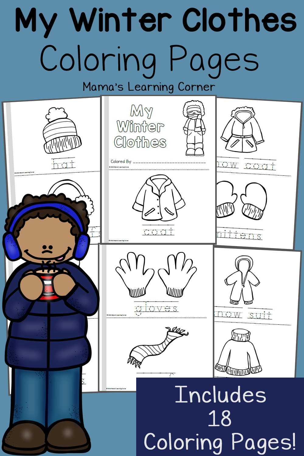 kindergarten coloring pages - winter coloring pages