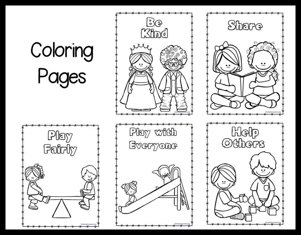 kindness coloring pages - post self control worksheet