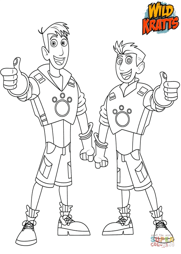king coloring pages - chris and martin kratts