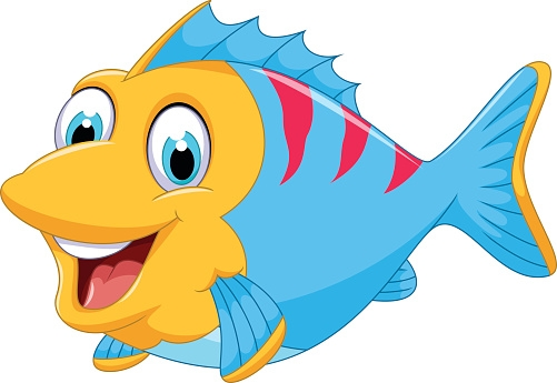 king coloring pages - cute fish clip art