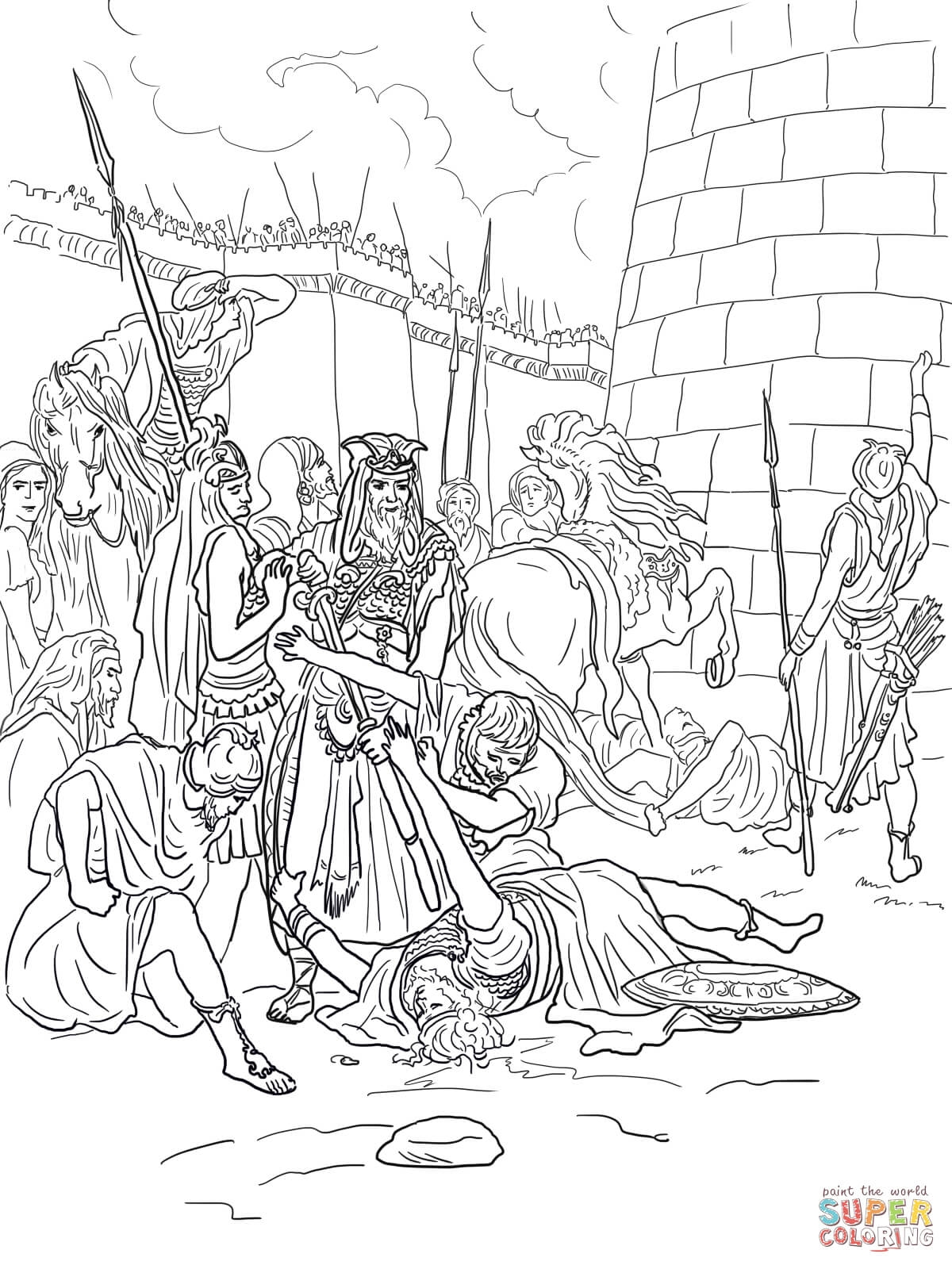 king david coloring pages - the of abimelech
