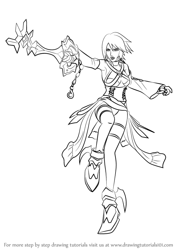 Kingdom Hearts Coloring Pages - Learn How to Draw Aqua From Kingdom Hearts Kingdom Hearts