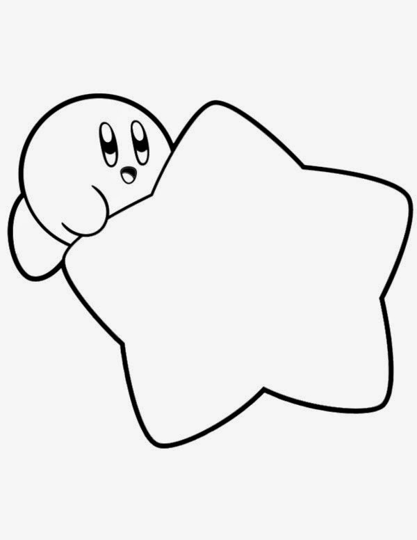 kirby coloring pages - coloring pages for kids to her kirby