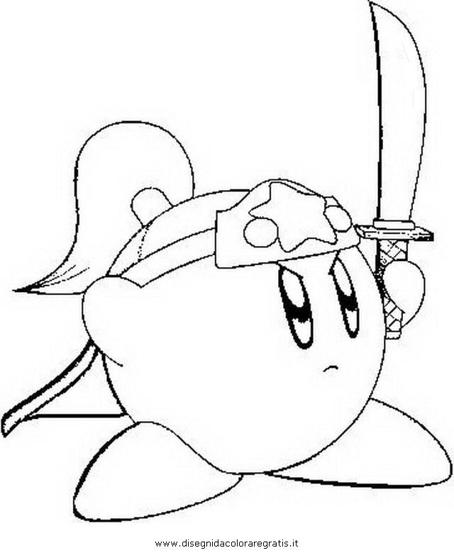 kirby coloring pages - disegno kirby 2