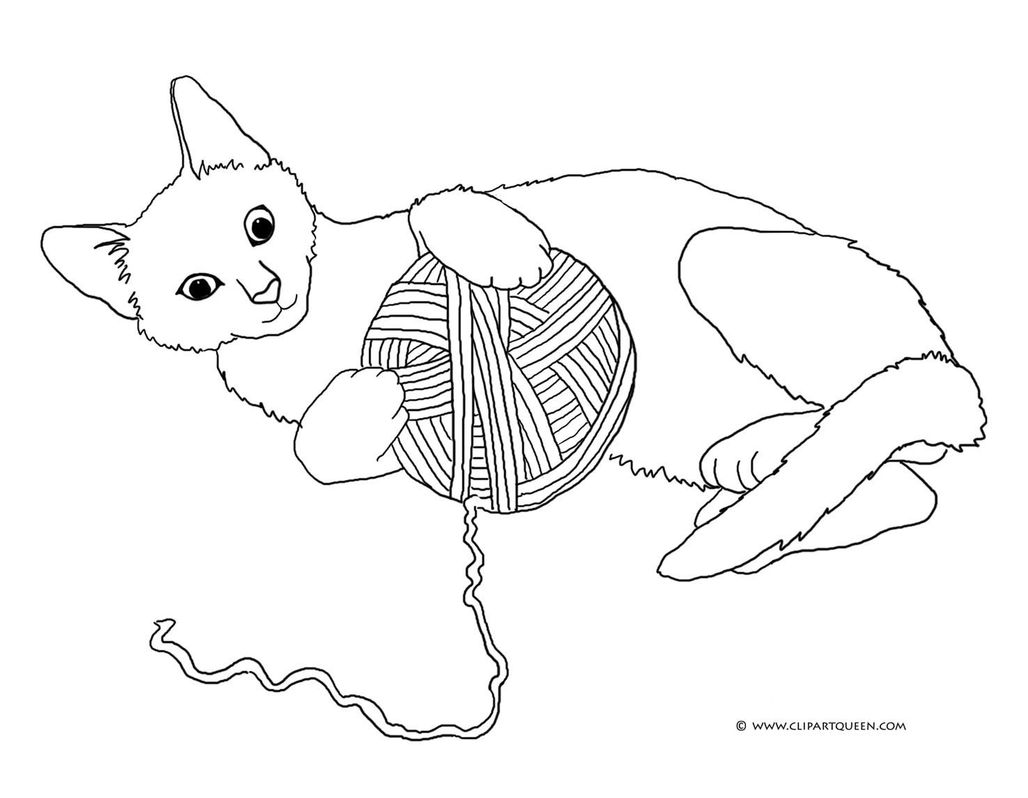 kitten coloring pages - cat coloring pages