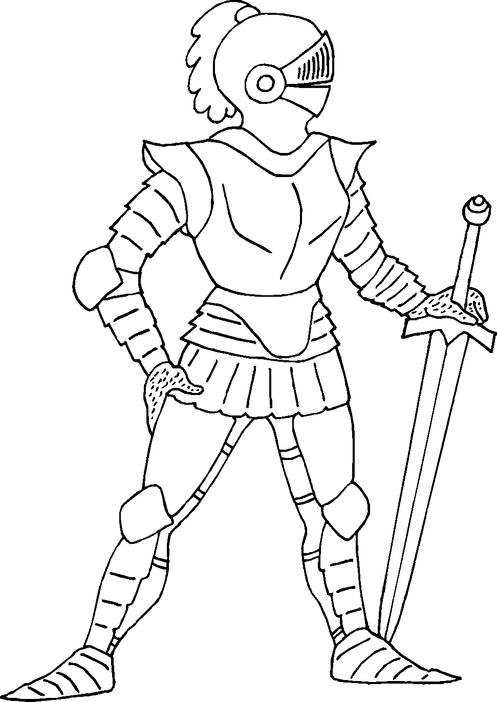 knight coloring pages - q=knight