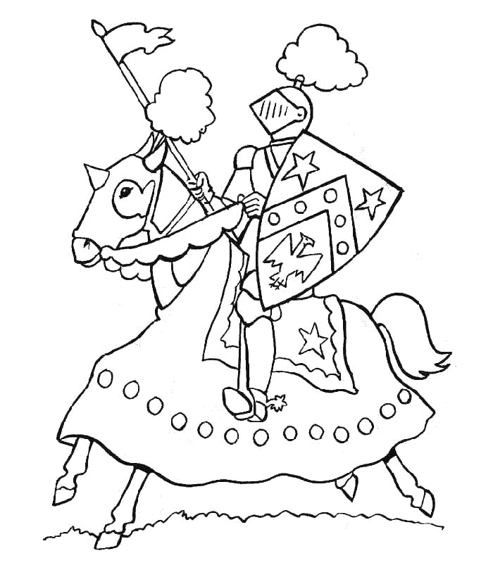 Knight Coloring Pages - Knight Coloring Pages Coloringpagesabc