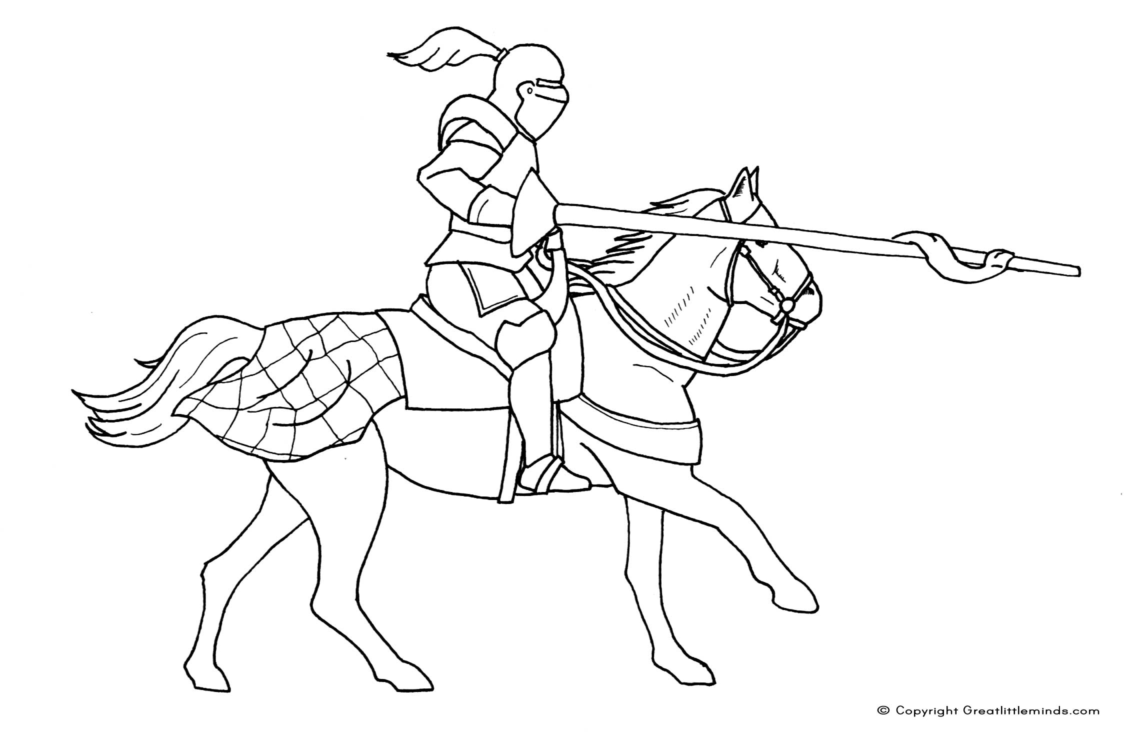 knight coloring pages - colouring me val knight on horse
