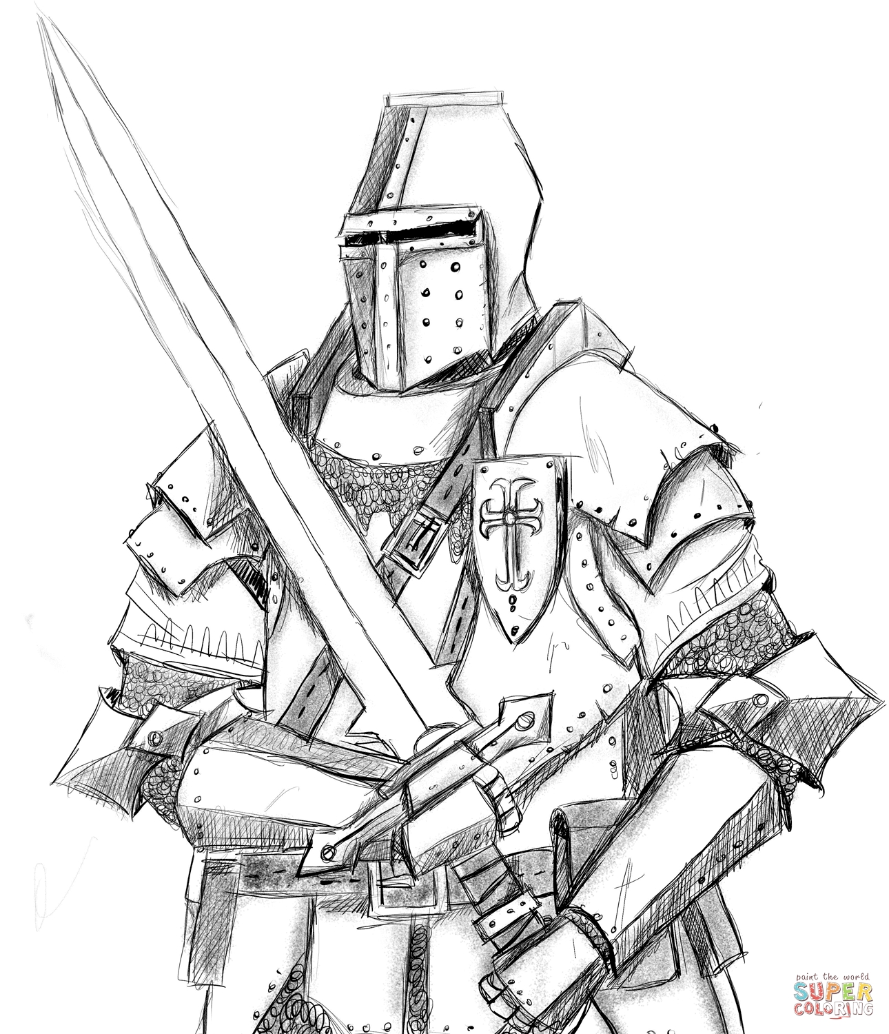 knight coloring pages - knight version=print