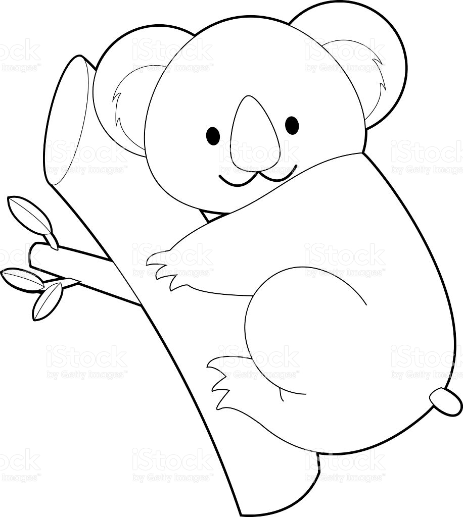 koala bear coloring page - easy coloring animals for kids koala gm