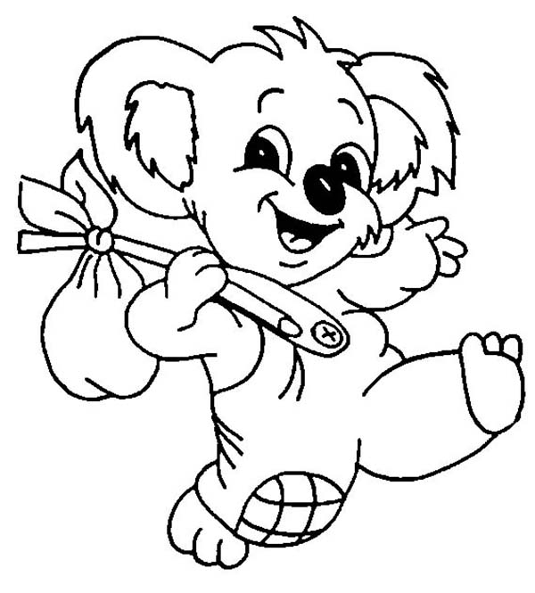 koala bear coloring page - the adventure of koala bear coloring page