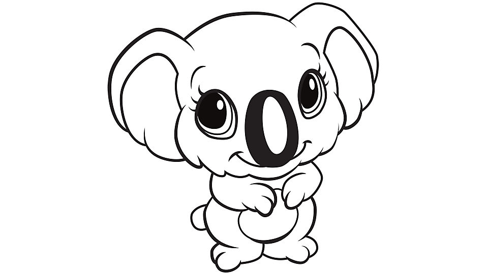 Koala Coloring Pages - Learning Friends Koala Coloring Printable