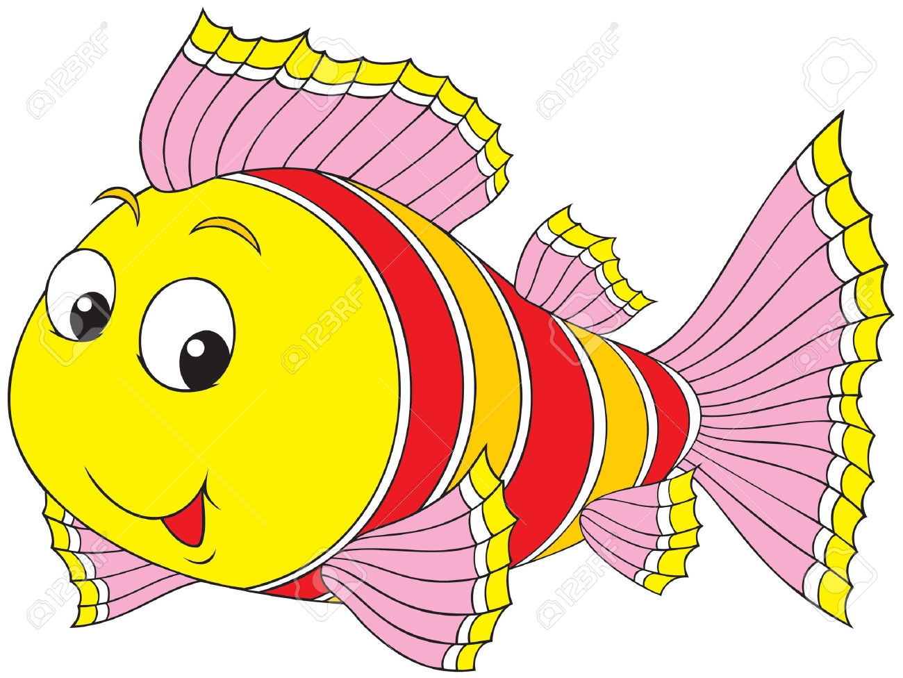 koi fish coloring page - free clipart