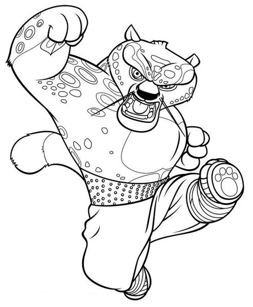 kung fu panda coloring pages - kung fu panda coloring pages