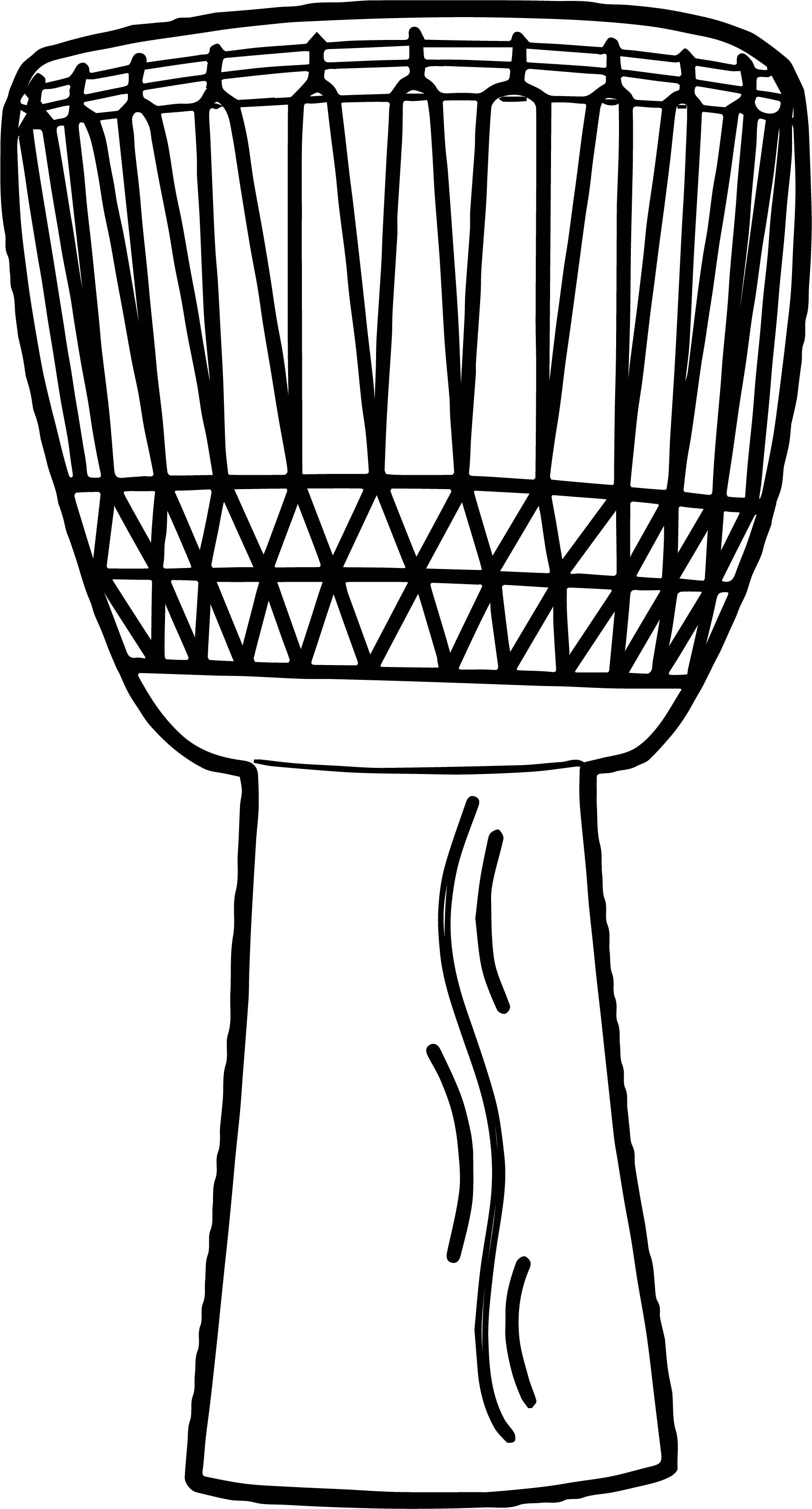 kwanzaa coloring pages - anonymous african drum coloring page