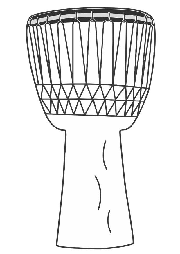 kwanzaa coloring pages - malvorlage djembe i