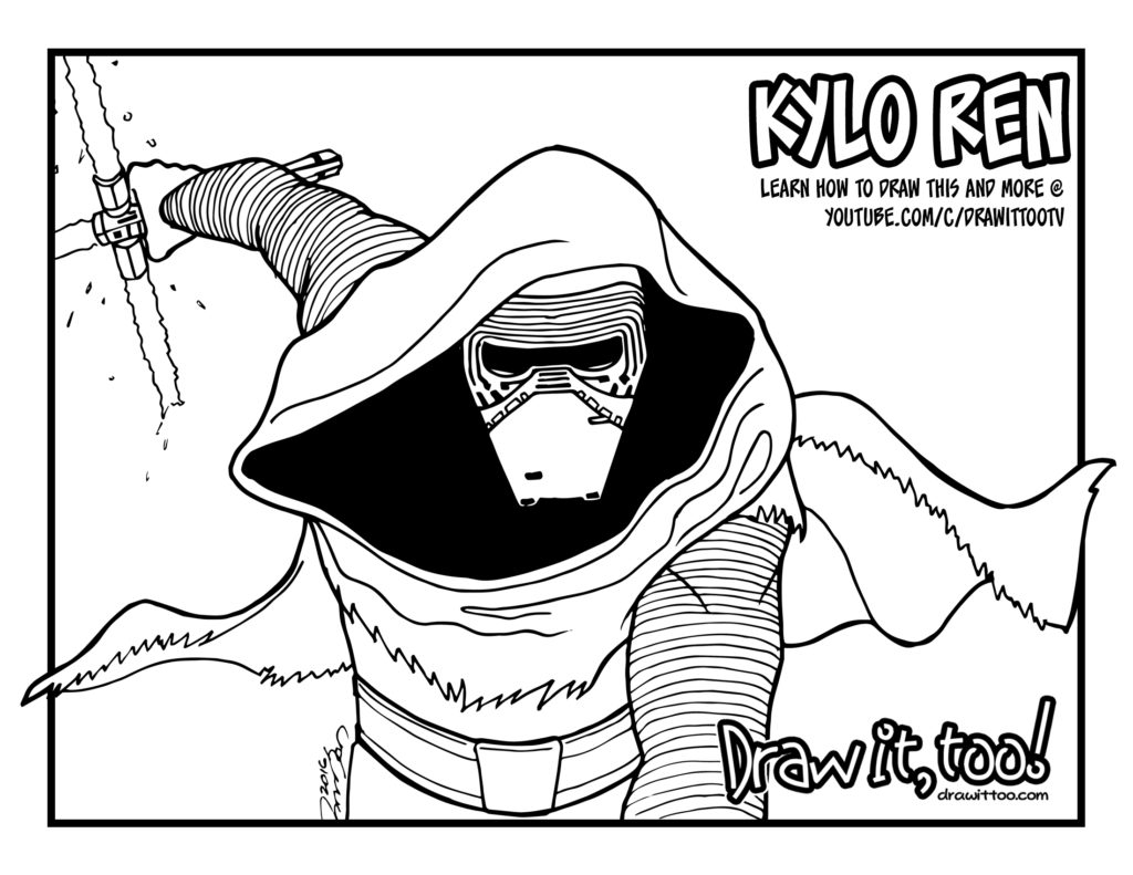 23 Kylo Ren Coloring Page Selection FREE COLORING PAGES Part 2