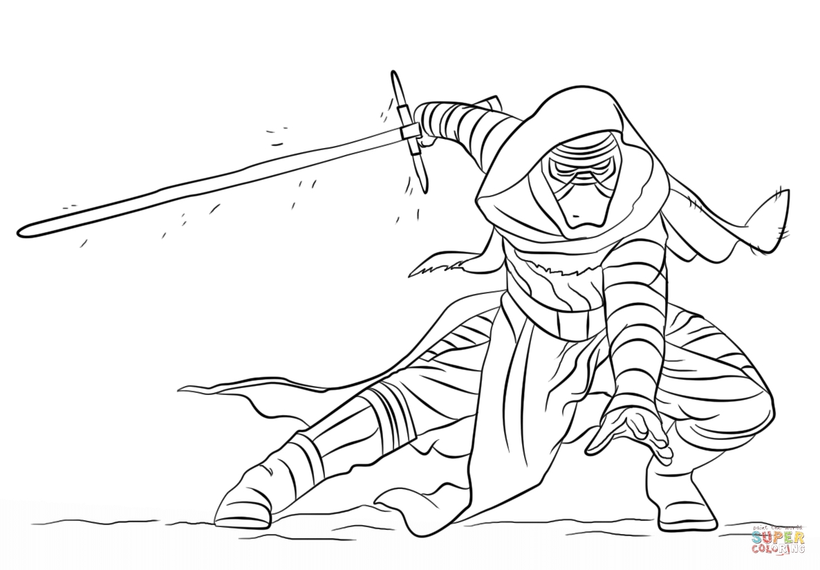 Kylo Ren Coloring Page - Star Wars Kylo Ren Coloring Pages Coloring Pages