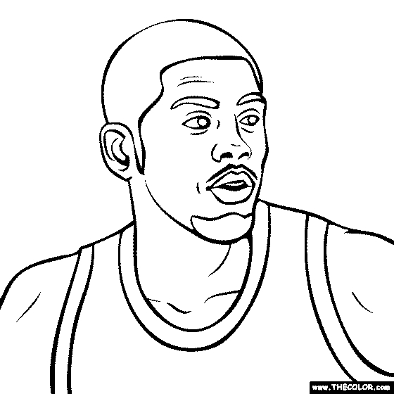 Kyrie Irving Coloring Pages - Free Line Coloring Pages thecolor