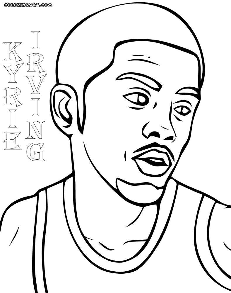 kyrie irving coloring pages - kyrie coloring pages sketch templates